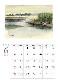 6月 雨の印旛沼