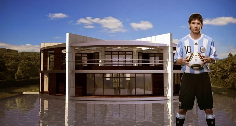 conception de la maison de lionel messi archi new free dwg file blocks cad autocad. Black Bedroom Furniture Sets. Home Design Ideas