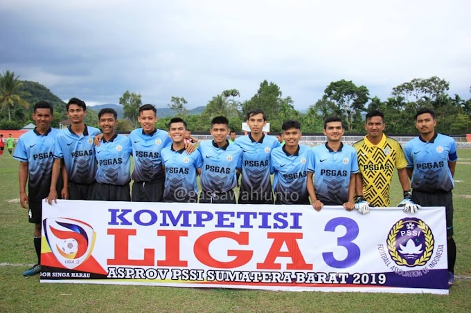 Jadwal Pertandingan PS GAS di Liga 3 Zona Sumatera Barat 2019