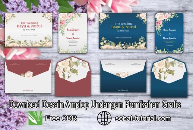 Download Desain Amplop Undangan Pernikahan CDR Gratis
