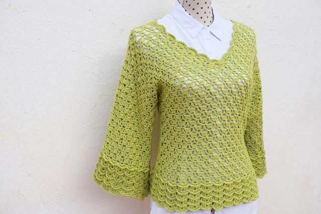 2 - Imagen Crochet Blusa de mujer a crochet y ganchillo parte 2 por Majovel Crochet