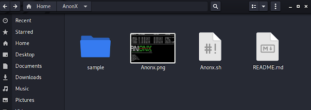 Anonx directory containing folder to be upload
