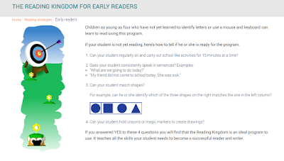 Is your child ready to use the Reading Kingdom to learn how to read.
