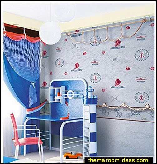 Blue Sea Beach Wallpaper   nautical bedroom ideas - decorating nautical style bedrooms - nautical decor - sailing ship theme - coastal seaside beach theme - boat beds - beach house decorating - Travelers and seafarers - nautical bedding - nautical bedroom furniture