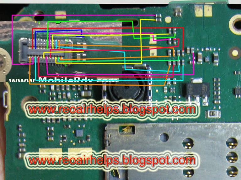 REPAIR HELPS: Nokia asha 206 display ways problem jumper solution