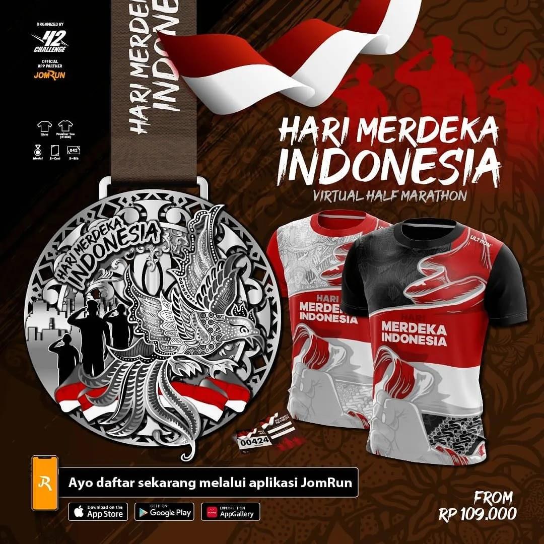 Hari Merdeka Indonesia Virtual Half Marathon • 2021