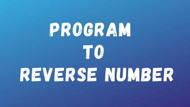 Number-Reverse-in-C