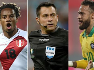 Brasil ganó 4-2 a Perú con ayuda del arbitro chileno