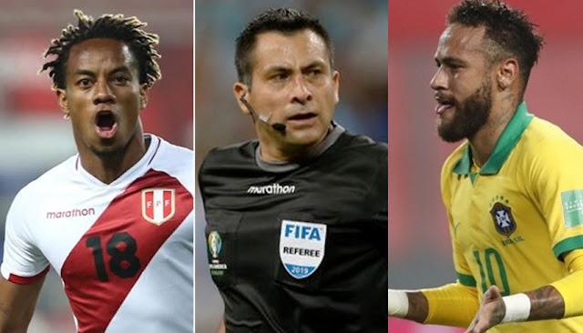 Brasil venció 4-2 a Perú con un polémico arbitraje de Julio Bascuñán