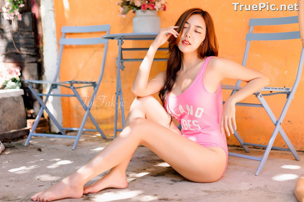 Image Thailand Model - Champ Phawida - Let's Swim With Pink Monokini - TruePic.net - Picture-4