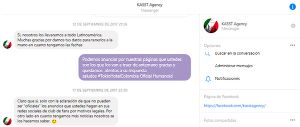Boletín-Informativo-KAST-Agency-Tokio-Hotel-Colombia