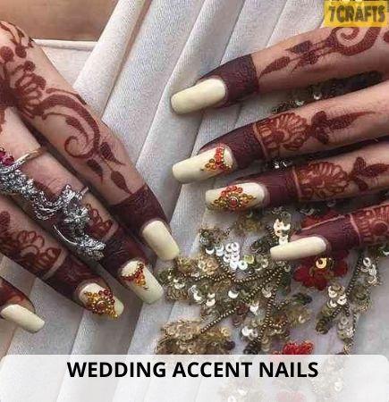 Wedding Accent Nails ideas 2021