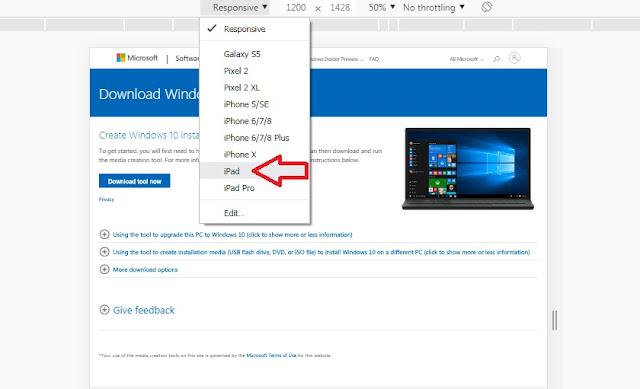 Chuyển sang giao diện màn hình Ipad trên Chrome