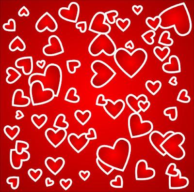 Fondo de corazones en vector