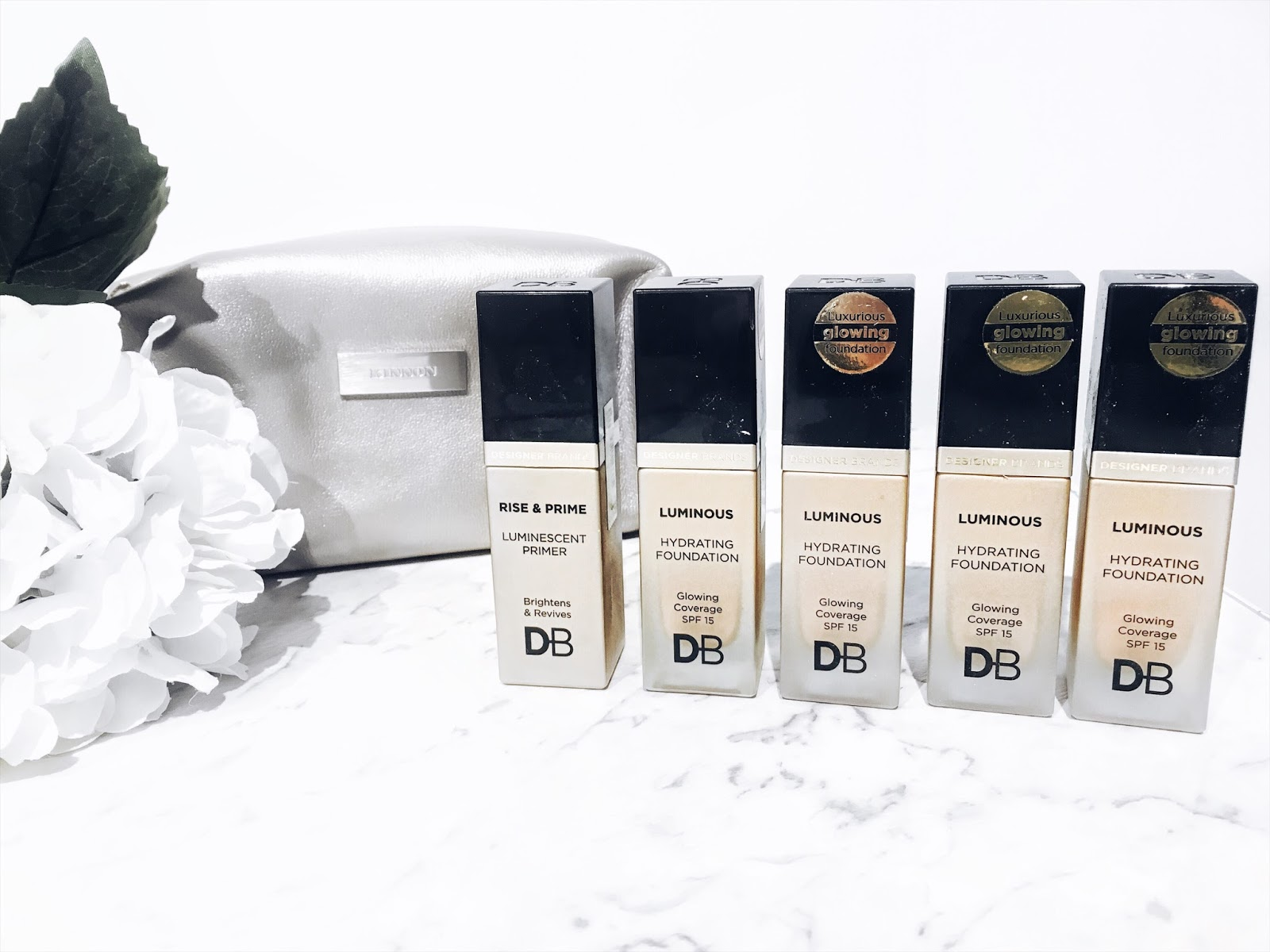 designer brands have released their brand new luminous hydrating foundation and their rise prime luminescent primer - Db Designer Brands