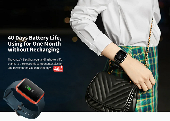 Amazfit Bip S Smartwatch With 40 Days Battery Life