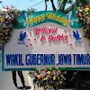 Bunga Papan Pernikahan Wagub Jatim