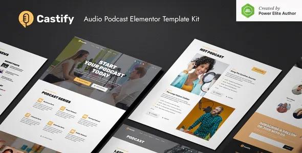 Best Audio Podcast Elementor Template Kit