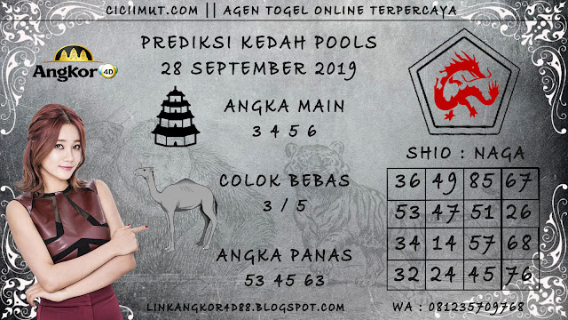 PREDIKSI KEDAH POOLS 28 SEPTEMBER 2019