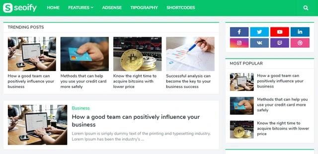 قالب SeoiFy للتحسين محركات البحث