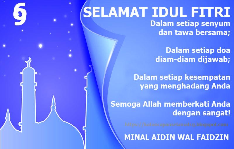 Ucapan Selamat Merayakan Hari Raya Idul Fitri Dalam Kata Kata