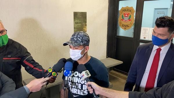 Após ser acusado de agressão pela ex-esposa, Dudu presta depoimento e diz que câmeras provarão sua inocência
