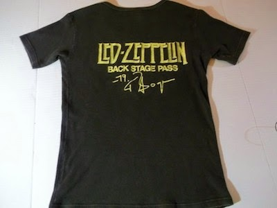 Led Zeppelin Back Stage Pass T Shirt image