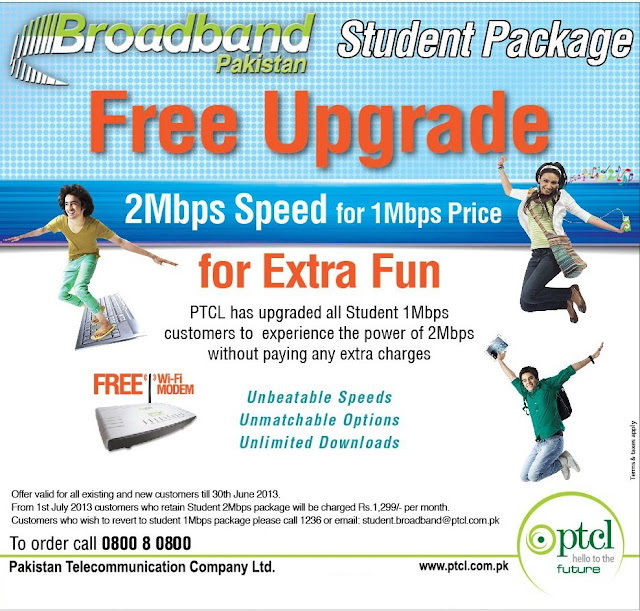 PTCL 2mb student package