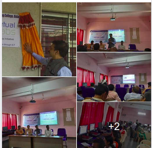 Inaugurated Virtual Lab at 2nd floor Electrical Science Block GNDEC Bidar and, also organised a workshop on