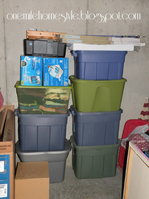 Garage Sale Organization & Tips - Storing the leftovers