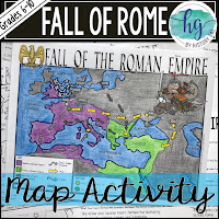 Product thumbnail of Fall of Rome Map Activity by History Gal