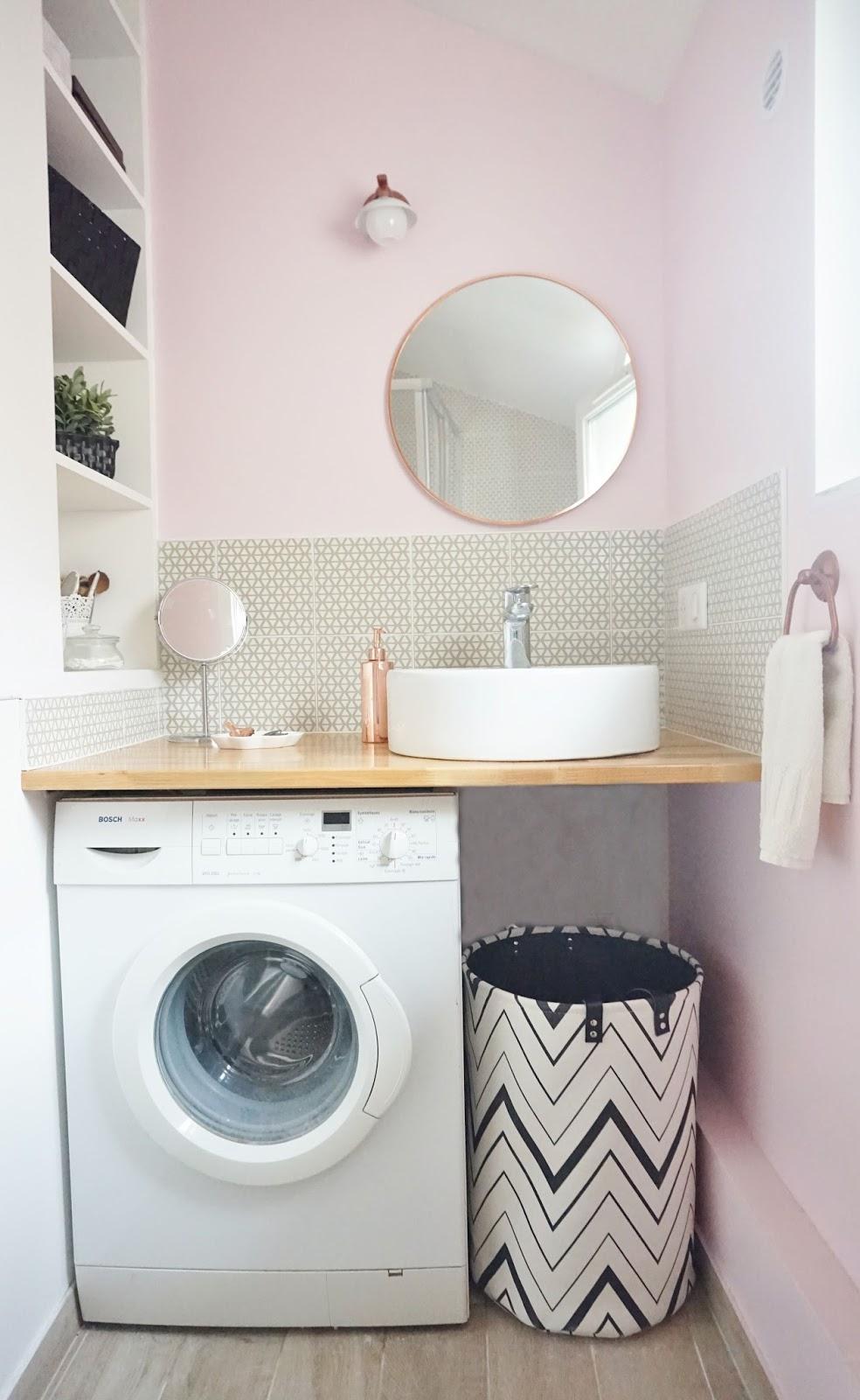 Salle De Bain Rose Pale Et Gris   Wc Rose Et Gris Cheap Bathroom ...