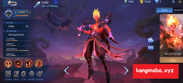 Script Skin Legend Valir Infernal Blaze Full Effect + Voice Mobile Legends