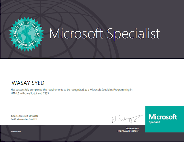 Microsoft Specialist - Programming in HTML5 with JavaScript and CSS3