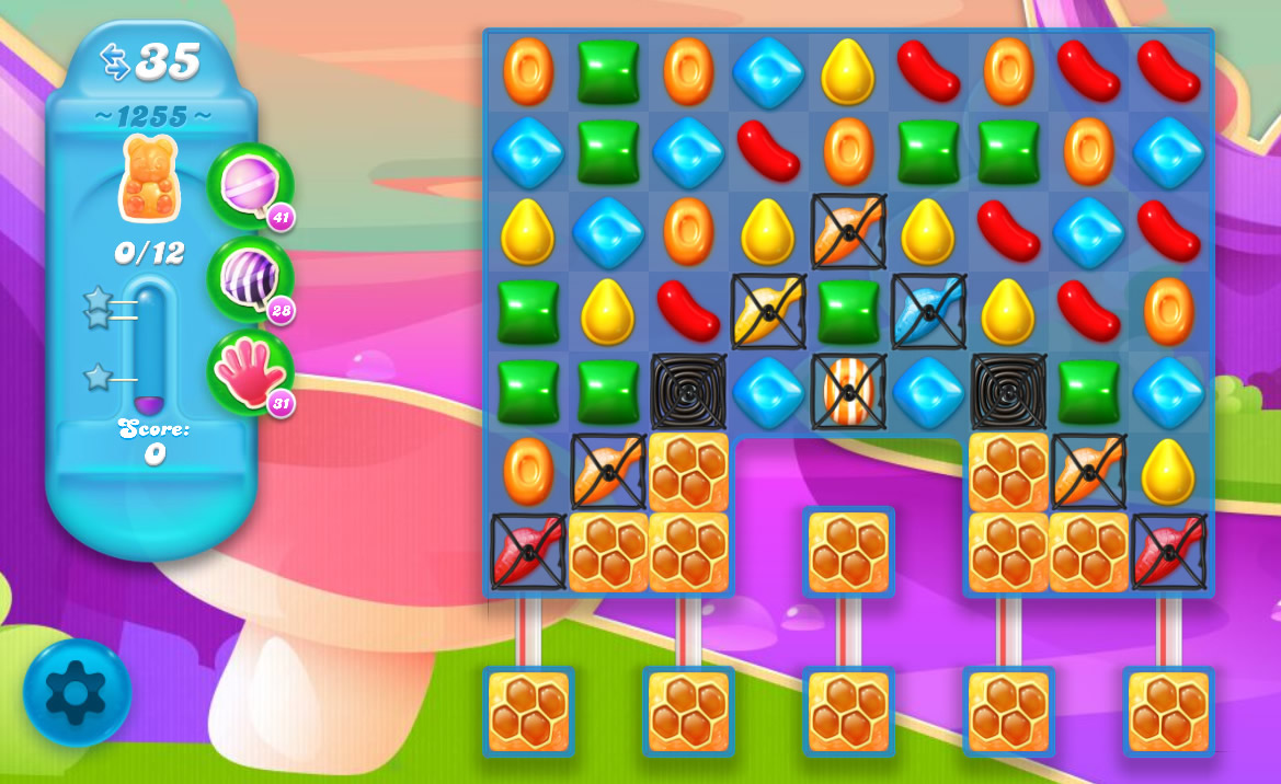 Candy Crush Soda Saga level 1255