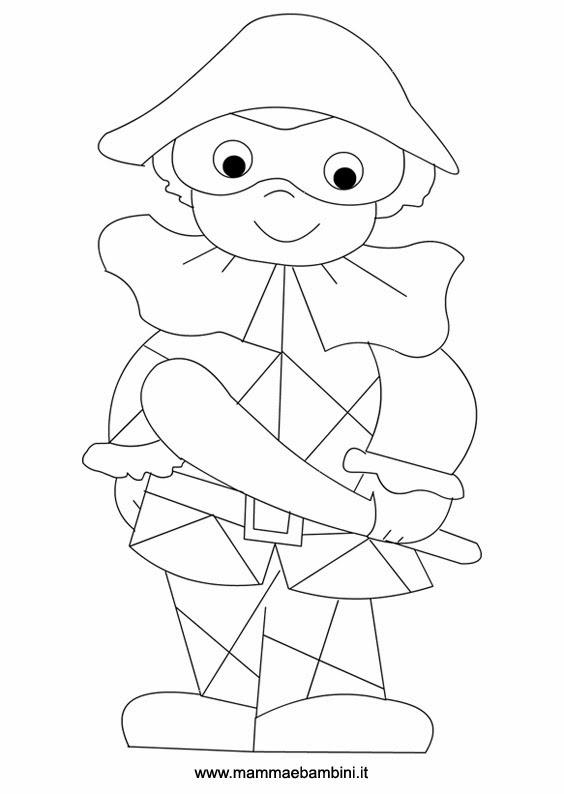 Lisa hobby e ora aria di carnevale for Arlecchino disegno da stampare