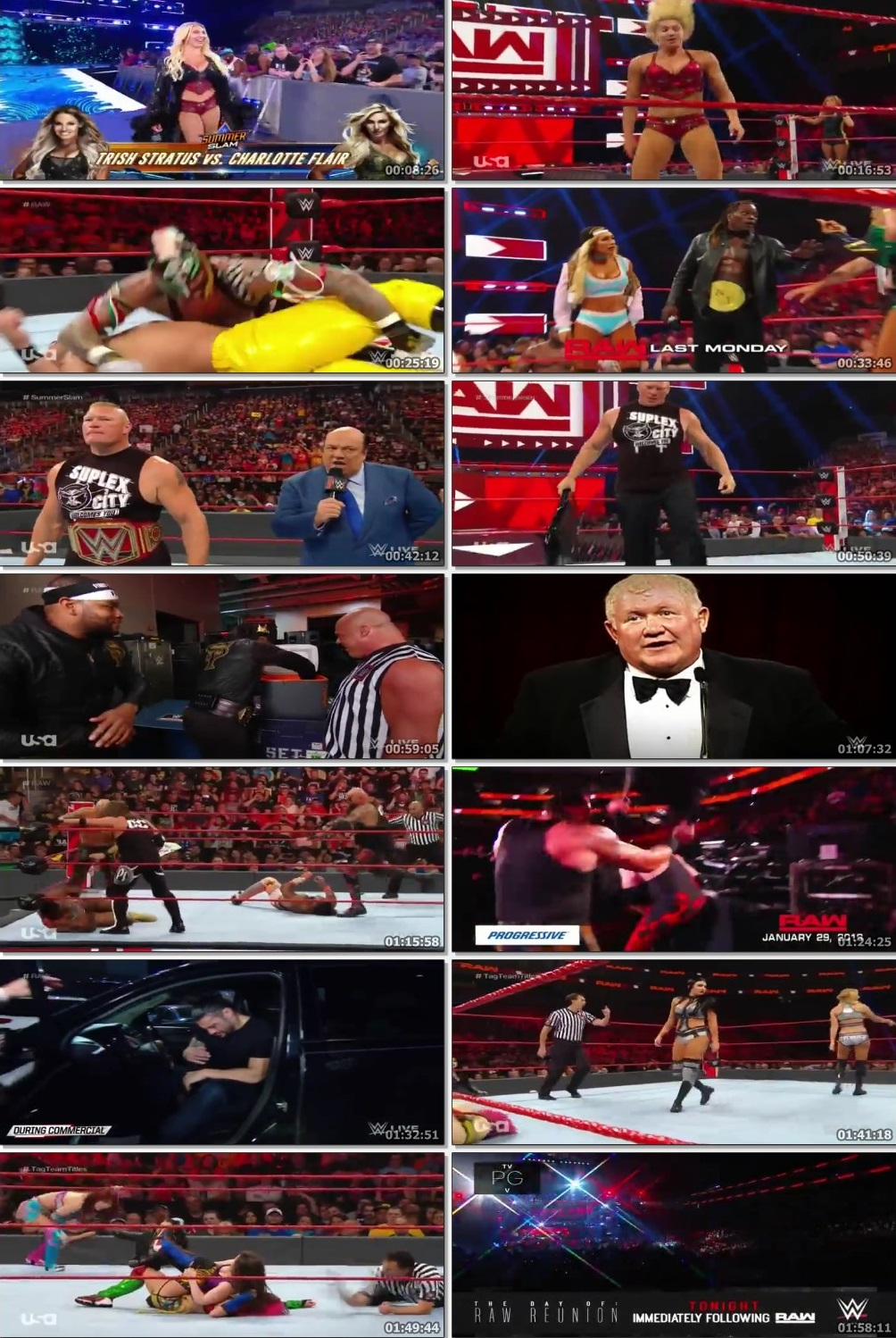 Screen Shot Of Wrestling TV Show WWE Monday Night Raw 5th August Watch Online Free Download