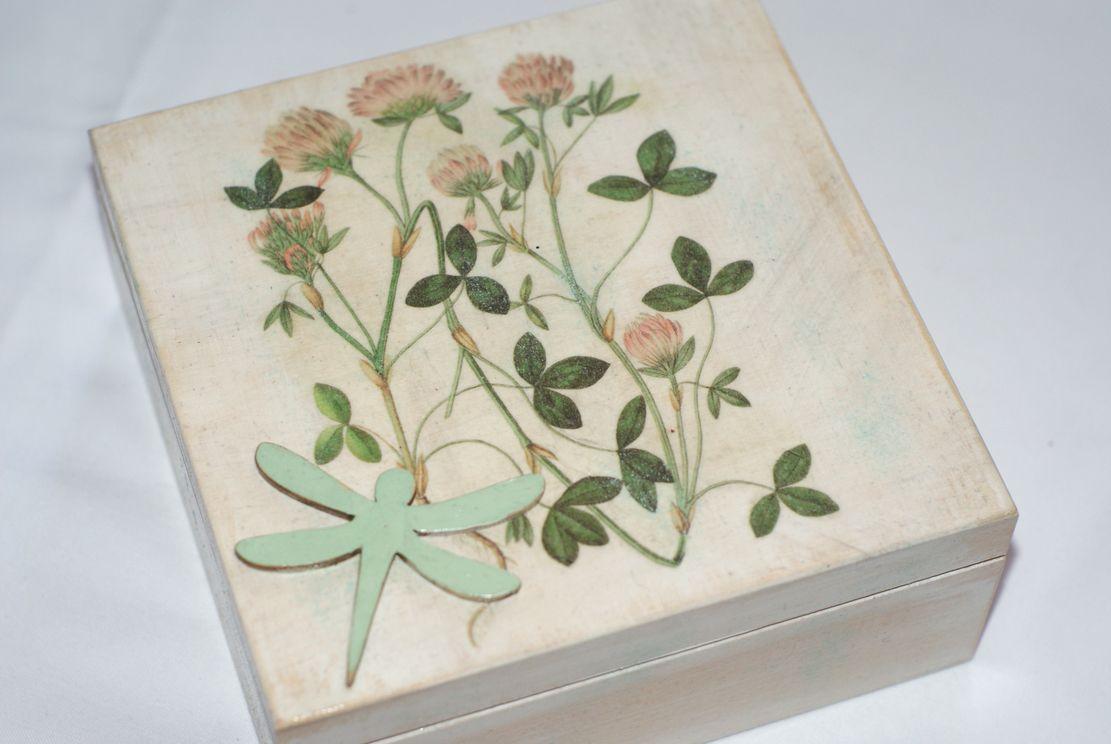 Pudełko z ważką-inspirowane naturą