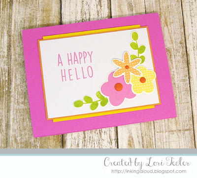 A Happy Hello card-designed by Lori Tecler/Inking Aloud-stamps and dies from Reverse Confetti