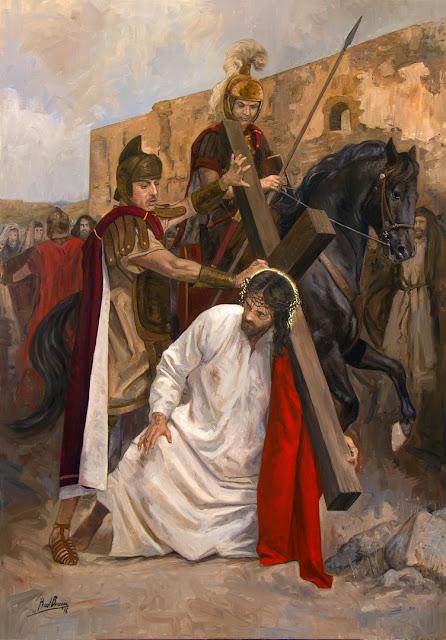 III Estação da Via-Sacra - Jesus cai pela primeira vez