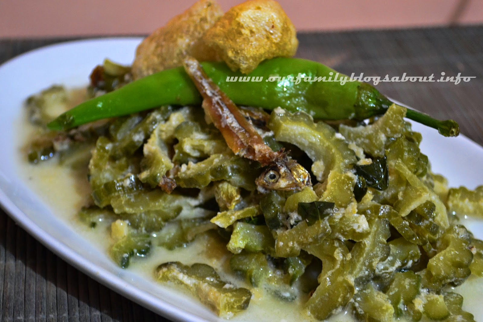 ampalaya, bitter gourd, Easy recipe, ginataang ampalaya, recipe, simple recipe,