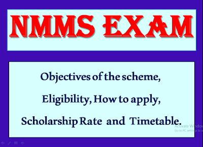 NMMS Exam 2019-20