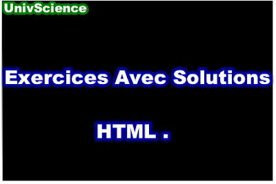 Exercices Avec Solutions HTML PDF.