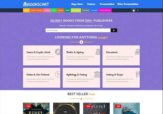Books Cart Education Responsive Blogger Template Free in 2021