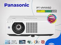 LCD Projector Panasonic PT‐VMW60, 6,000 lumens, WXGA ( 1280 x 800 )