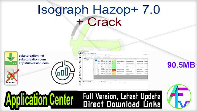 Isograph Hazop+ 7.0 + Crack
