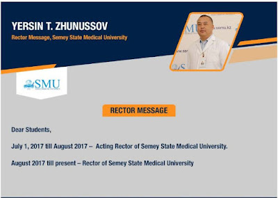 Rector's Message For Semey State Medical University
