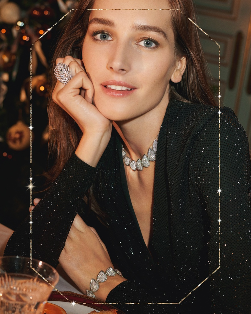 Josephine le Tutour stars in Boucheron Holiday 2019 campaign