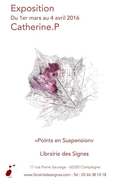 Exposition Catherine P à la librairie des Signes