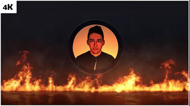 قالب إحترافي يكشف عن شعار ملحمة النار Epic Fire Logo مع عرض اللوجو الخاص بك بدقة عالية 4K